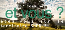 Les communes membres du SMED